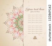 vector abstract card. damask... | Shutterstock .eps vector #132869162