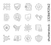 set icons of cyber protection... | Shutterstock .eps vector #1328692562