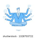 multitasking businessman.... | Shutterstock .eps vector #1328703722