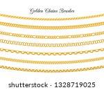 golden chains brushes. gold... | Shutterstock .eps vector #1328719025