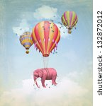Pink Elephant In The Sky With...