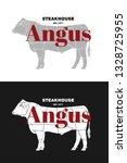 beef cow butcher meat shop... | Shutterstock .eps vector #1328725955