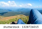 hikers lay down resting and... | Shutterstock . vector #1328726015