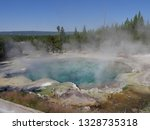 boiling emerald spring with hot ... | Shutterstock . vector #1328735318