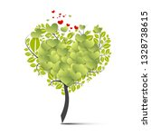 green tree symbol with flying... | Shutterstock .eps vector #1328738615