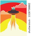 abstract flying ufo ship... | Shutterstock .eps vector #1328738882