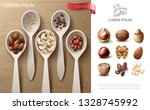 realistic natural nuts colorful ... | Shutterstock .eps vector #1328745992
