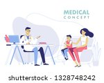 medicine concept with doctor... | Shutterstock .eps vector #1328748242