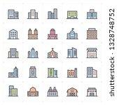 mini icon set   building full... | Shutterstock .eps vector #1328748752
