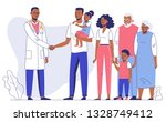family doctor concept with... | Shutterstock .eps vector #1328749412