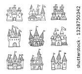 set of hand drawn cartoon... | Shutterstock .eps vector #1328750342