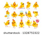 collection of cute easter... | Shutterstock .eps vector #1328752322