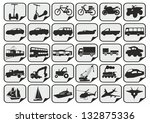 simple transport icons | Shutterstock .eps vector #132875336