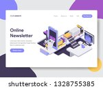 landing page template of online ... | Shutterstock .eps vector #1328755385