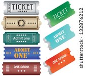 tickets in different styles | Shutterstock . vector #132876212
