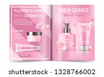 cosmetic magazine design with... | Shutterstock .eps vector #1328766002