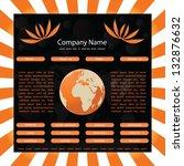 website template with globe... | Shutterstock . vector #132876632