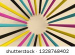 crayons are in a circle  3d... | Shutterstock . vector #1328768402