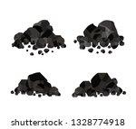 pile of charcoal  coal | Shutterstock .eps vector #1328774918