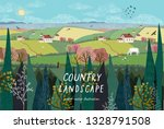 vector illustration of a rural... | Shutterstock .eps vector #1328791508