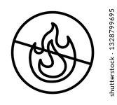 not allowed   fire   flame   | Shutterstock .eps vector #1328799695