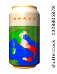 3d can with national flag of... | Shutterstock . vector #1328805878