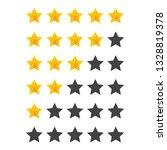 rating golden stars  set....   Shutterstock .eps vector #1328819378