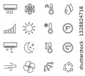 air conditioning icons. thin... | Shutterstock .eps vector #1328824718