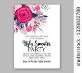 anemone rose poppy greenery... | Shutterstock .eps vector #1328832788