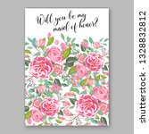 pink ranunculus anemone wedding ... | Shutterstock .eps vector #1328832812