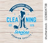 cleaning company badge  emblem. ... | Shutterstock .eps vector #1328834738