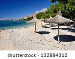 amazing empty sea bay with...   Shutterstock . vector #132884312