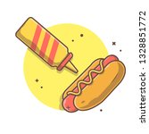 hotdog vector icon illustration ...   Shutterstock .eps vector #1328851772