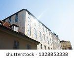 modern building with sun... | Shutterstock . vector #1328853338