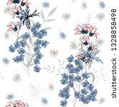 bohemian flowers pattern....   Shutterstock .eps vector #1328858498