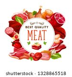 meat and butcher shop grocery... | Shutterstock .eps vector #1328865518