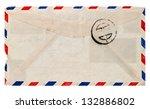 Vintage Airmail Envelope. Retr...