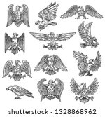 eeagles herladic sketch icons....   Shutterstock .eps vector #1328868962