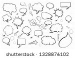 set of blank empty hand drawn... | Shutterstock .eps vector #1328876102