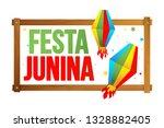 festa junina brazil festival. | Shutterstock . vector #1328882405