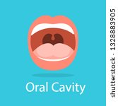 human oral cavity. opened mouth.... | Shutterstock .eps vector #1328883905