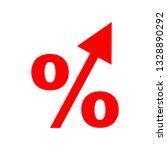 increasing interest percentage | Shutterstock .eps vector #1328890292