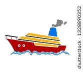 ship or boat sign icon.... | Shutterstock .eps vector #1328890352