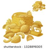 pasta. detailed icon isolated... | Shutterstock . vector #1328898305