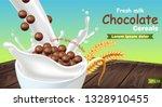 organic chocolate cereals in... | Shutterstock .eps vector #1328910455