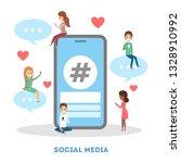 social media web banner. chat...   Shutterstock .eps vector #1328910992