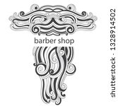 barber shop. logo on white... | Shutterstock .eps vector #1328914502