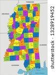 colorful mississippi political... | Shutterstock .eps vector #1328919452