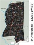 high detailed mississippi road... | Shutterstock .eps vector #1328919488