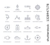 set of 16 thin linear icons... | Shutterstock .eps vector #1328947178